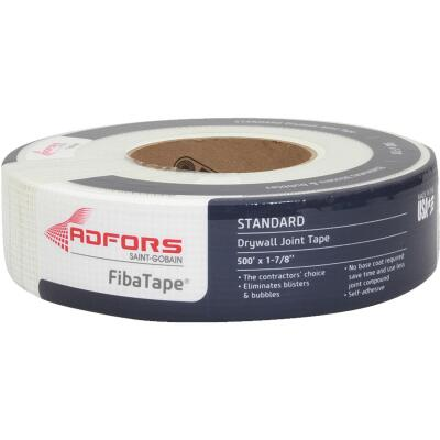 FibaTape 1-7/8 In. x 500 Ft. White Self-Adhesive Joint Drywall Tape
