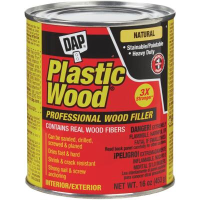 DAP Plastic Wood 16 Oz. Natural Solvent Professional Wood Filler